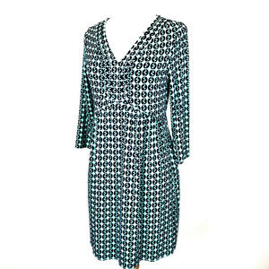 Boden Tunic Dress Dorothy Day Green Blue Stretch
